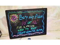 LED Writing Board Flashing Illuminated erasable Neon