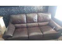 Leather couch, 2 and 3 seater