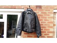 Leather Fringed motorbike Jacket