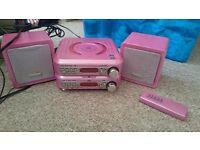Pink radio and cd player