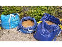 Bulk bags sharp sand, ballast, scalpings