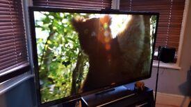 "Panasonic Viera TX-P55ST50B 55"" 3D 1080p HD Plasma Internet TV + 3 3D Glasses and 5 3D Blu rays"