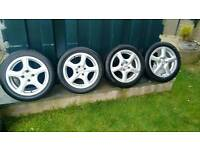"15""Advanti Alloys & tyres.4x100 Multi fit"