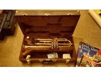 Sonata B-Flat Trumpet & Accessories (one stuck valve)
