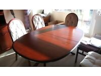 Dining suite - extending table, 6 chairs and sideboard