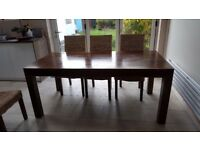 Dinning Table, Solid Dark Mango wood
