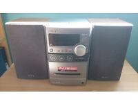 Sony stereo system CD & cassette player AM/FM radio model CMT-NEZ30