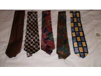 10 MENS TIES, 6 OR 7 ARE MARKS AND SPENCERS, ALL IN GREAT CONDITION