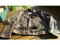 Leather Vintage Motorcycle Jacket M L