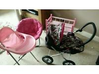 Baby doll bundle and moon chair