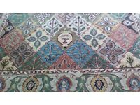 Wool Rug with Persian Design