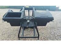 GOLF BUGGY REAR 2 GOLF BAG HOLDER ATTATCHMENT WITH COMPARTMENTS ASSY LINKSBACK 2634464 POLARIS MAKE!