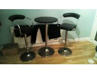 2 stools hydraulic and table