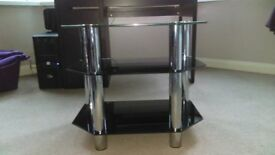 Black glass TV stand excellent condition