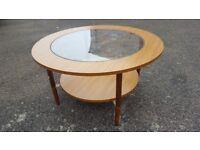 Mid century retro teak style coffee table