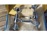 Vintage Style Basin Taps Brand new In Box