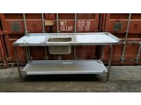 NEW Commercial STAINLESS STEEL SINK SINGLE BOWL KITCHEN SINK BRAND NEW