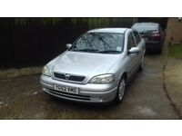 Vauxhall Astra Silver 2002. MOT until August 2018. New exhaust.