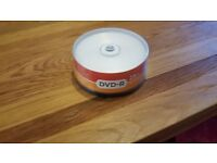 Blank DVD-Rs, pack of 25