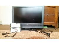 "Sharp AQUOS LC32SA1E 32"" LCD TV with Goodmans Low Energy Digital Freeview Box"