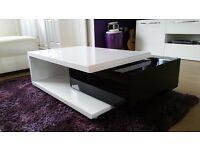 White / Black gloss coffee table