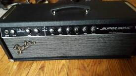 fender super sonic head in excellent condition with cover