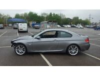 2008 58 BMW 330D M SPORT E92 COUPE SPACE GREY DAMAGED SALVAGE REPAIRABLE CAT D