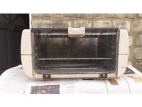 SMALL TEFAL OVEN,GRILL,TOASTER WITH PYREX DISH ELECTRIC USED
