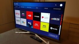 "SAMSUNG 40"" Smart 4K UHD HDR LED TV-UE40KU6400,built in Wifi,Freeview, Excellent condition"