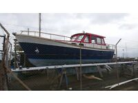 NAUTICAT 33 MOTORSAILER 80HP FORD DIESEL,NEEDS WORK HENCE £15000