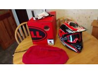 Bell motorcycle helmet and Progrip Goggles