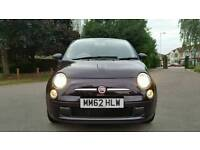 2013 + 1 REGESTERED KEEPER + START STOP + FIAT 500 RHD 1.2 cc +MAUVE/PURPLE+2 KEY+WARRENTY AVAILABLE