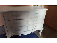 6 drawer french ivory cabinet