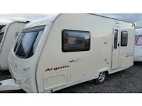 2006 AVONDALE ARGENTE 480/2 BERTH TOURING CARAVAN WITH MOTOR MOVER AND FULL AWNING.