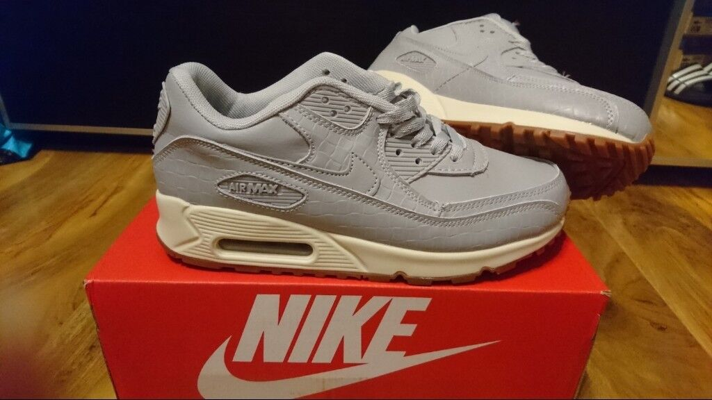 8f97d92ef4e992 Mens Womens Nike Air max force 90 95 97 serpent grey size 6