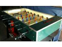 Coin operated football table 20p or 50p play
