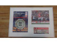 Manchester United Signed Framed Photographs & Programme