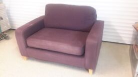 Two Sofaworks sofas one with single sofa bed