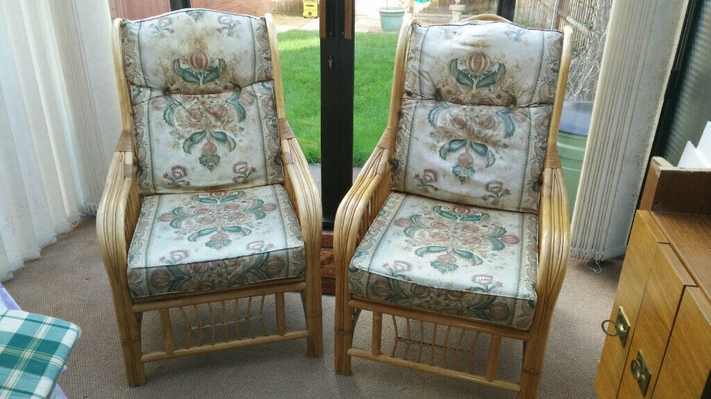 Matched Pair Of Conservatory Chairs In Chessington