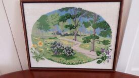 Framed Tapestry picture 'Spring'