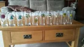 Norwich beer festival glasses from 1990-1998 x10