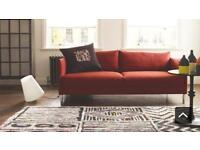 Habitat Red Hyde 3-Seater Sofa in Mint Condition
