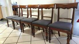 Victoria dining chairs x 5
