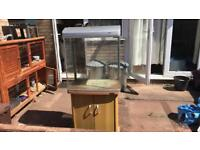 Fish tank with stand 130ltr