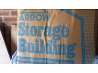Arrow Storage building/shed, metal. Boxed and unused. Approx 8' x 6'.
