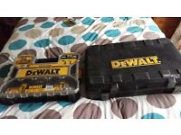 Dewalt drills 10.8v twin and 24v hammer drills uesd