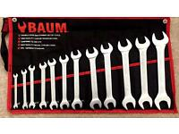 12pc double open end spanner set cold stamped