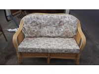 wicker sofa/settee and armchair conservatory furniture