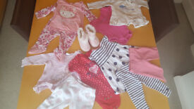 Baby Girls 14 Piece Clothing Bundle Age 3-6-Mths FREE UK P&P