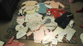 Lovely Baby Girl Clothes Bundle Newborn 0-3mths. VGC